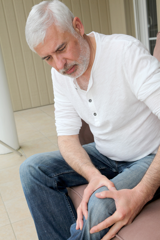 Senior man with osteoarthritis pain